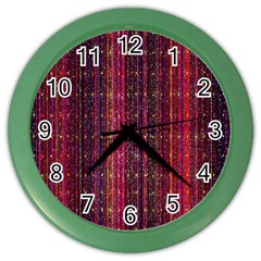 Colorful And Glowing Pixelated Pixel Pattern Color Wall Clocks