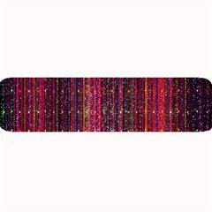 Colorful And Glowing Pixelated Pixel Pattern Large Bar Mats