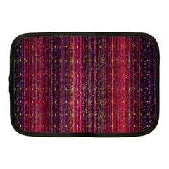 Colorful And Glowing Pixelated Pixel Pattern Netbook Case (Medium)