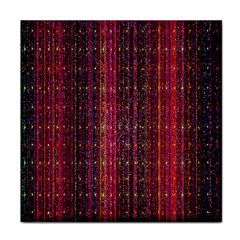 Colorful And Glowing Pixelated Pixel Pattern Face Towel