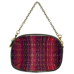 Colorful And Glowing Pixelated Pixel Pattern Chain Purses (two Sides)