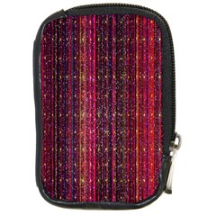 Colorful And Glowing Pixelated Pixel Pattern Compact Camera Cases