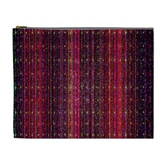 Colorful And Glowing Pixelated Pixel Pattern Cosmetic Bag (xl)