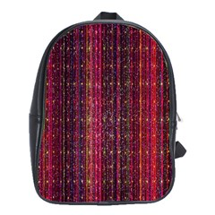 Colorful And Glowing Pixelated Pixel Pattern School Bags(large)