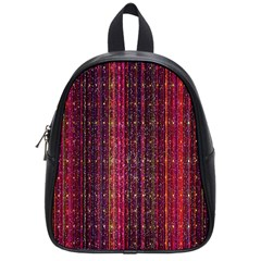 Colorful And Glowing Pixelated Pixel Pattern School Bags (Small)