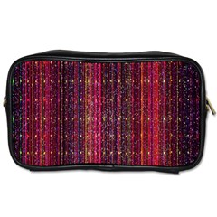 Colorful And Glowing Pixelated Pixel Pattern Toiletries Bags