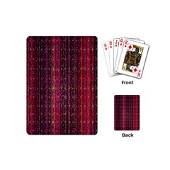 Colorful And Glowing Pixelated Pixel Pattern Playing Cards (mini)