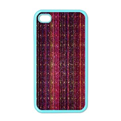 Colorful And Glowing Pixelated Pixel Pattern Apple Iphone 4 Case (color)