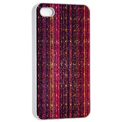 Colorful And Glowing Pixelated Pixel Pattern Apple iPhone 4/4s Seamless Case (White)