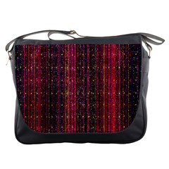 Colorful And Glowing Pixelated Pixel Pattern Messenger Bags