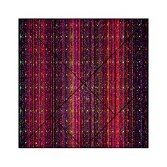 Colorful And Glowing Pixelated Pixel Pattern Acrylic Tangram Puzzle (6  X 6 )