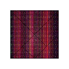 Colorful And Glowing Pixelated Pixel Pattern Acrylic Tangram Puzzle (4  X 4 )