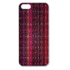 Colorful And Glowing Pixelated Pixel Pattern Apple Seamless Iphone 5 Case (clear)