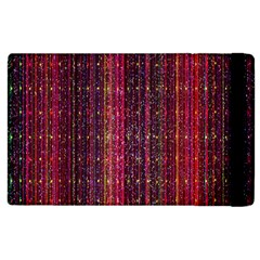 Colorful And Glowing Pixelated Pixel Pattern Apple Ipad 2 Flip Case