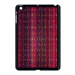 Colorful And Glowing Pixelated Pixel Pattern Apple Ipad Mini Case (black)