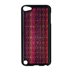 Colorful And Glowing Pixelated Pixel Pattern Apple Ipod Touch 5 Case (black)
