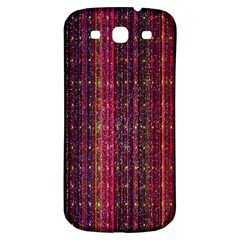 Colorful And Glowing Pixelated Pixel Pattern Samsung Galaxy S3 S Iii Classic Hardshell Back Case