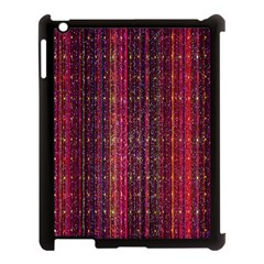 Colorful And Glowing Pixelated Pixel Pattern Apple Ipad 3/4 Case (black)