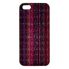 Colorful And Glowing Pixelated Pixel Pattern Apple Iphone 5 Premium Hardshell Case