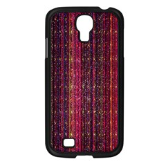 Colorful And Glowing Pixelated Pixel Pattern Samsung Galaxy S4 I9500/ I9505 Case (black)
