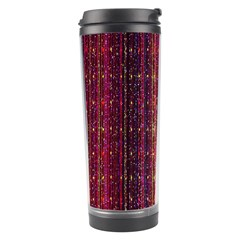 Colorful And Glowing Pixelated Pixel Pattern Travel Tumbler