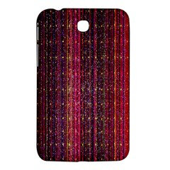 Colorful And Glowing Pixelated Pixel Pattern Samsung Galaxy Tab 3 (7 ) P3200 Hardshell Case