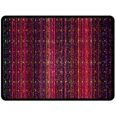 Colorful And Glowing Pixelated Pixel Pattern Double Sided Fleece Blanket (large)