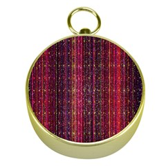 Colorful And Glowing Pixelated Pixel Pattern Gold Compasses