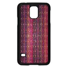 Colorful And Glowing Pixelated Pixel Pattern Samsung Galaxy S5 Case (black)