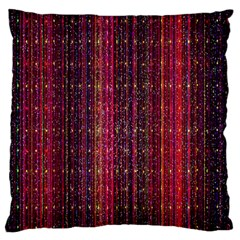 Colorful And Glowing Pixelated Pixel Pattern Large Flano Cushion Case (one Side)