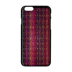 Colorful And Glowing Pixelated Pixel Pattern Apple Iphone 6/6s Black Enamel Case