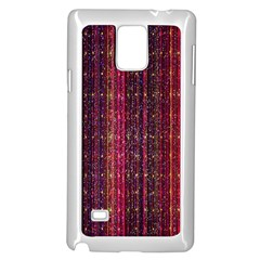Colorful And Glowing Pixelated Pixel Pattern Samsung Galaxy Note 4 Case (white)