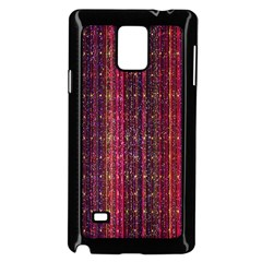 Colorful And Glowing Pixelated Pixel Pattern Samsung Galaxy Note 4 Case (black)