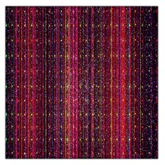 Colorful And Glowing Pixelated Pixel Pattern Large Satin Scarf (square)