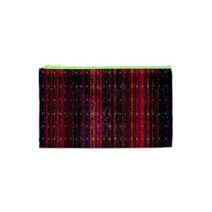 Colorful And Glowing Pixelated Pixel Pattern Cosmetic Bag (xs)