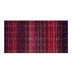 Colorful And Glowing Pixelated Pixel Pattern Satin Wrap