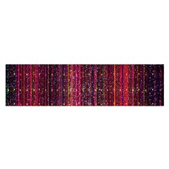 Colorful And Glowing Pixelated Pixel Pattern Satin Scarf (oblong)
