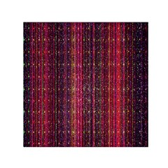 Colorful And Glowing Pixelated Pixel Pattern Small Satin Scarf (Square)