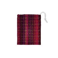 Colorful And Glowing Pixelated Pixel Pattern Drawstring Pouches (xs)