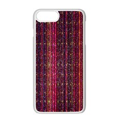 Colorful And Glowing Pixelated Pixel Pattern Apple Iphone 7 Plus White Seamless Case