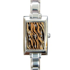 Tiger Animal Print A Completely Seamless Tile Able Background Design Pattern Rectangle Italian Charm Watch