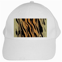 Tiger Animal Print A Completely Seamless Tile Able Background Design Pattern White Cap