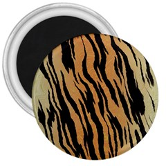 Tiger Animal Print A Completely Seamless Tile Able Background Design Pattern 3  Magnets