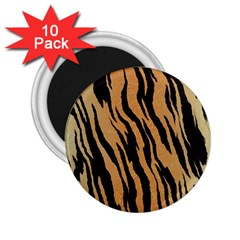 Tiger Animal Print A Completely Seamless Tile Able Background Design Pattern 2 25  Magnets (10 Pack)