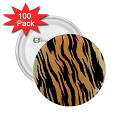 Tiger Animal Print A Completely Seamless Tile Able Background Design Pattern 2 25  Buttons (100 Pack)