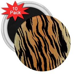Tiger Animal Print A Completely Seamless Tile Able Background Design Pattern 3  Magnets (10 Pack)