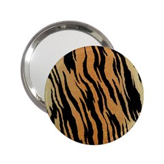 Tiger Animal Print A Completely Seamless Tile Able Background Design Pattern 2 25  Handbag Mirrors