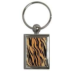 Tiger Animal Print A Completely Seamless Tile Able Background Design Pattern Key Chains (rectangle)