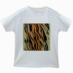 Tiger Animal Print A Completely Seamless Tile Able Background Design Pattern Kids White T Shirts
