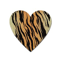 Tiger Animal Print A Completely Seamless Tile Able Background Design Pattern Heart Magnet